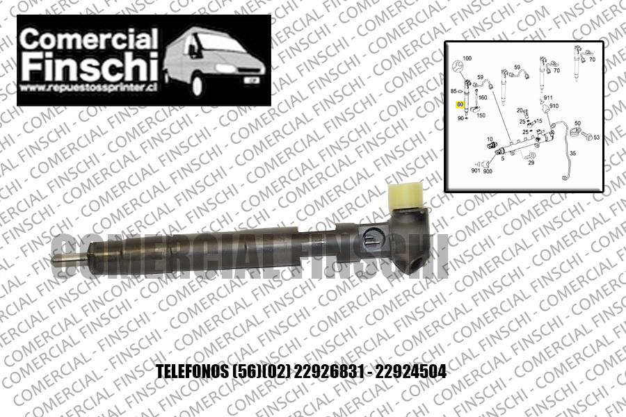 INYECTORES ORIGINALES MERCEDES BENZ SPRINTER 515