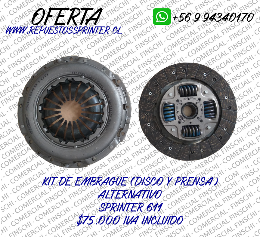 OFERTA KIT DE EMBRAGUE SPRINTER 313-413