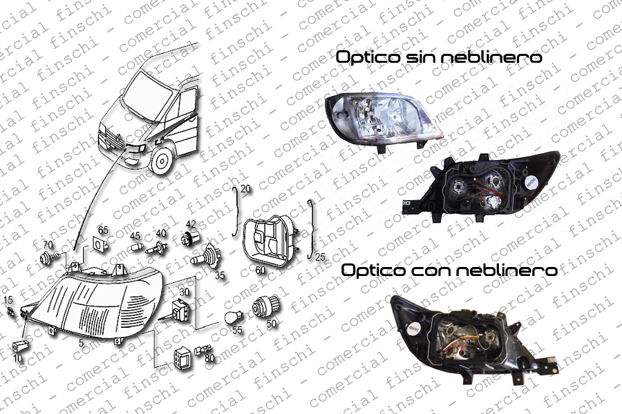 OPTICO MERCEDES BENZ SPRINTER CON NEBLINERO