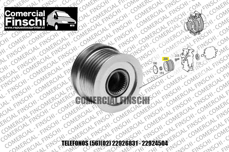 POLEA DE ALTERNADOR MERCEDES BENZ SPRINTER ORIGINAL BOSCH